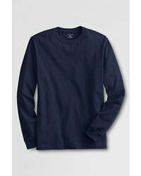 Lands' End Tall Long Sleeve Super T Blue Cameo