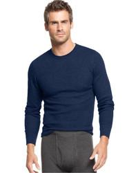 Alfani Underwear Waffle Knit Thermal Long Sleeve T Shirt