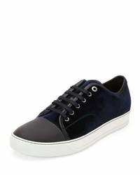 Lanvin Velvet Captoe Low Top Shoe