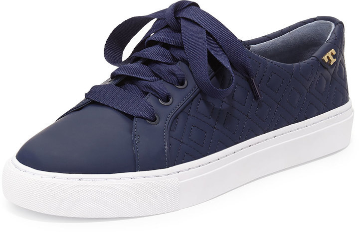 fcf7613f625252 ... Tory Burch Marion Quilted Leather Low Top Sneaker Bright Navy ...