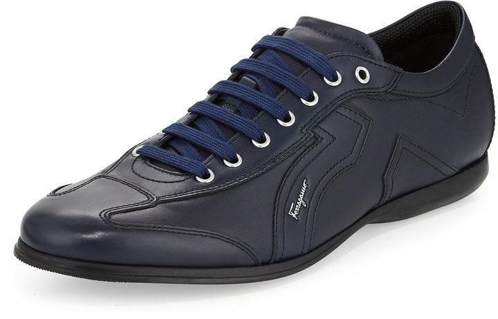 Salvatore Ferragamo Mille 6 Low Top Sneaker Navy   Where to buy ... de637a09c2