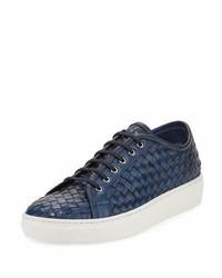 Sesto Meucci Nace Woven Lace Up Sneaker Navy