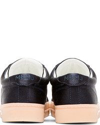 Marc by Marc Jacobs Navy Satin Laceless Cute Kicks Sneakers