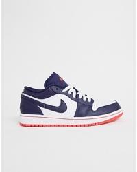 Jordan Nike Air 1 Low Trainers In Blue