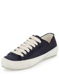 Pedro Garcia Parson Satin Low Top Lace Up Sneaker