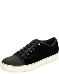 Lanvin Velvet Cap Toe Low Top Shoe