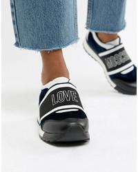 Love Moschino Velvet Logo Trainer