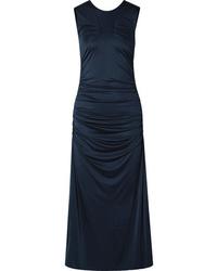 By Malene Birger Cutout Ruched Stretch Jersey Midi Dress
