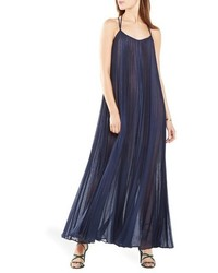 BCBGMAXAZRIA Isadona Pleat Gauze Maxi Dress