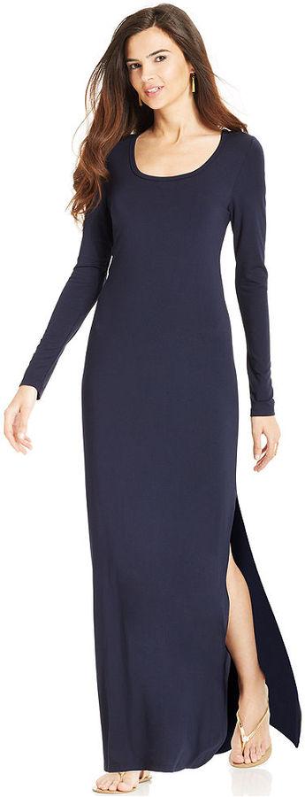 Long slit maxi dress