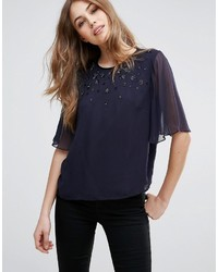 French Connection Brodway Lights Mesh Top