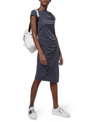 Asymmetric slinky drape dress medium 517945