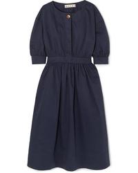 Marni Cotton And Twill Midi Dress