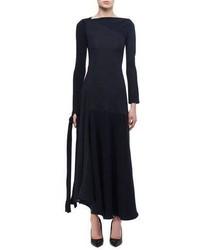 Victoria Beckham Paneled Tie Detail Midi Dress