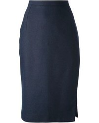 Navy midi skirt original 1470057