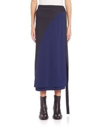 Cedric charlier cedric charlier colorblock wrap midi skirt medium 806060