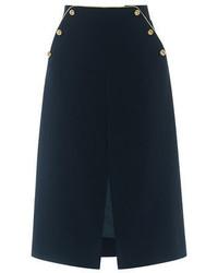 Oasis Gold Trim Midi Skirt Span Classvariation Color Heading  Navyspan