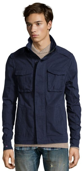 198df48e045 ... Jachs Navy Cotton Woven Sentry Field Jacket