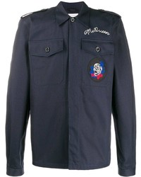 Alexander McQueen Skull And Logo Embroidered Shirt