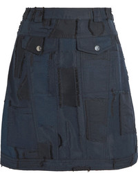 Jacquard mini skirt midnight blue medium 3701103