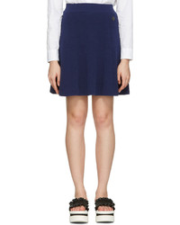 Navy flared iconic miniskirt medium 1151778