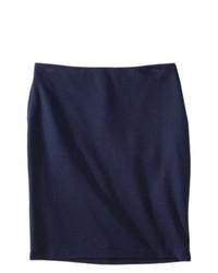 Nobland International Merona Ponte Pencil Skirt Xavier Navy 16
