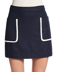 Theory strailia wool mini skirt medium 345345