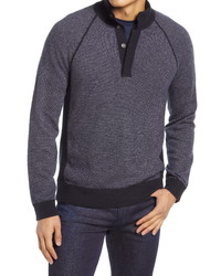 Vince Birds Eye Wool Cashmere Mock Neck Sweater