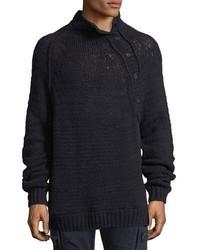 Vince Open Knit Mock Neck Sweater