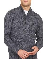 Barbour Sid Half Zip Wool Cotton Sweater