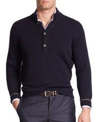 Brunello Cucinelli Splitneck Cashmere Sweater