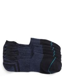 Navy No Show Socks