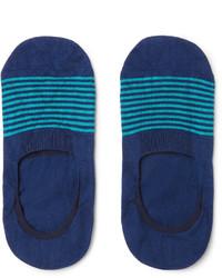 Pantherella Striped Cotton Blend No Show Socks