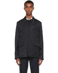 Versace Black Nylon Blazer