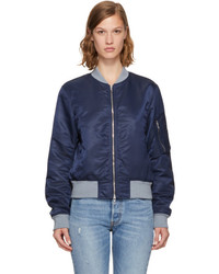 Rag & Bone Rag And Bone Navy Manston Bomber Jacket