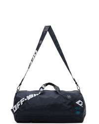 Off-White Navy Nylon Duffle Bag