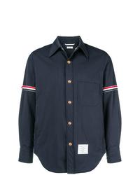 Navy Nylon Shirt Jacket