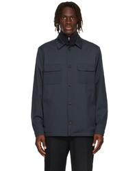 Loro Piana Navy Nylon Windwish Jacket
