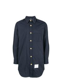 Thom Browne Solid Nylon Shirt Jacket