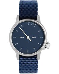 Miansai M24 Stainless Steel Watch With Nylon Strap Navy