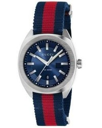 Gucci Stainless Steel Nylon Web Watch