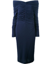 Salvatore Ferragamo Ruched Midi Dress
