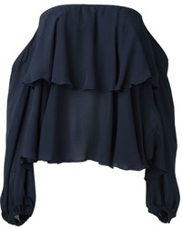 Dondup Off The Shoulder Ruffle Blouse