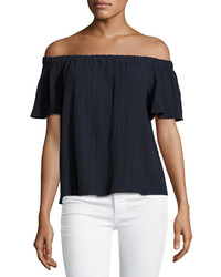 Rebecca Taylor Off The Shoulder Cotton Top
