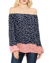 Vince Camuto Two By Off The Shoulder Scatter Arrow Blouse