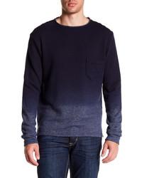 Navy Ombre Crew-neck Sweater