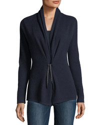Cashmere collection chain tie cashmere cardigan medium 4983836
