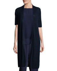 Eileen Fisher Ribbed Knee Length Cardigan