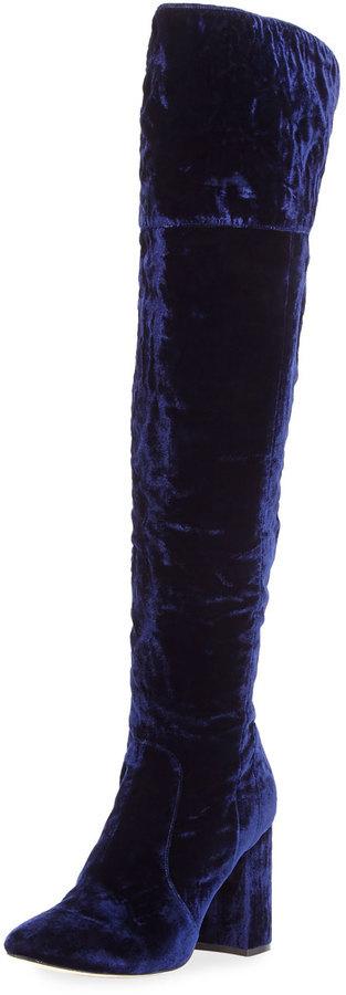 5b1863d3349 Joie Lalana Velvet 90mm Over The Knee Boot