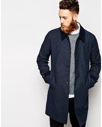 Asos Trench Coat With Contrast Collar And Cuff